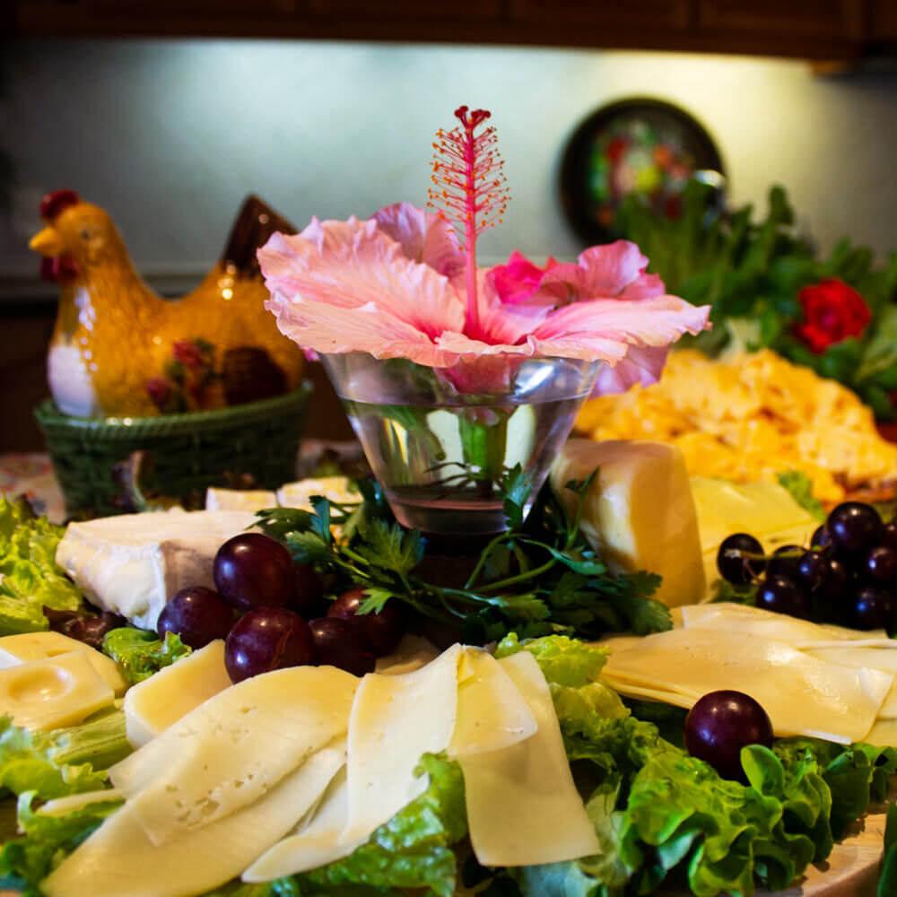 A Vila do Sol prepara todos os dias um completo e excelente pequeno almoço buffet