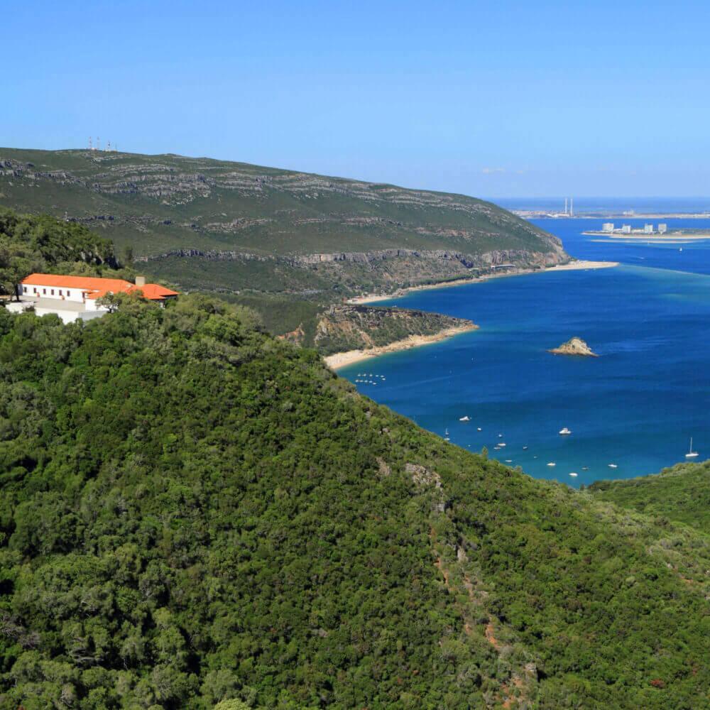 Parque Natural da Arrábida em Setúbal, Portugal