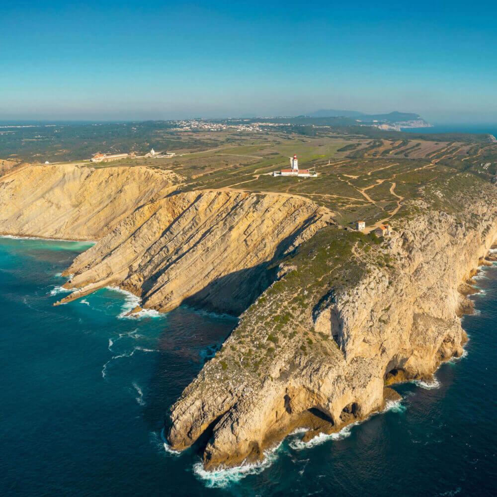 Vista aérea do Cabo Espichel