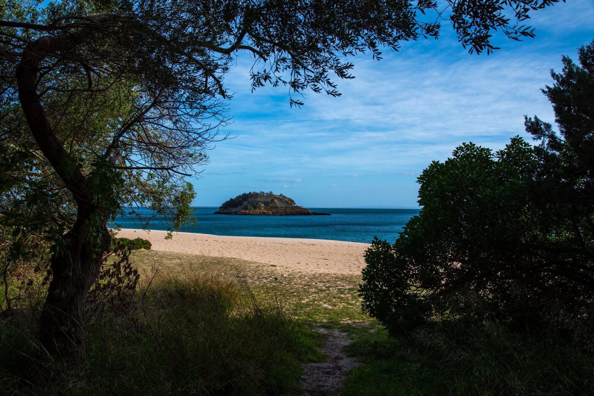 Praia paradísica no Portinho de Arrábida perto da nossa casa de férias em Sesimbra